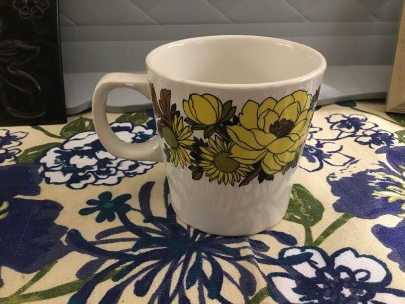 Mayflower by Grindley Staffordshire England Small Coffee Mug Floral Tea Cup MCM