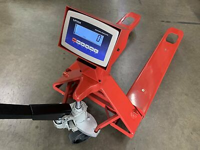 Sl-5000-e Industrial Warehouse Truck Pallet Jack Scale With 5000 Lb X 1lb