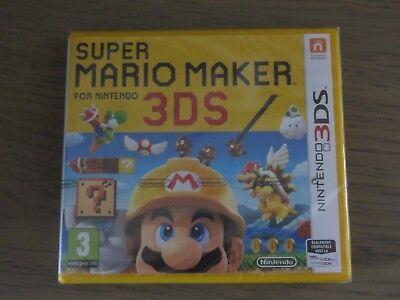 JEU NINTENDO 3DS SUPER MARIO MAKER FOR NINTENDO  NEUF BLISTER NIEW VERSION FR