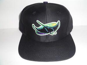 9331bac854c Tampa Bay Devil Rays Vintage Authentic Snapback NWT Hat Logo Athletic Black  MLB