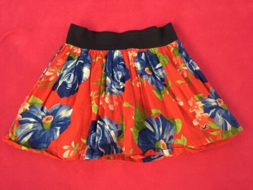 Hollister skirt Jrs XS x-small GUC Red and blues
