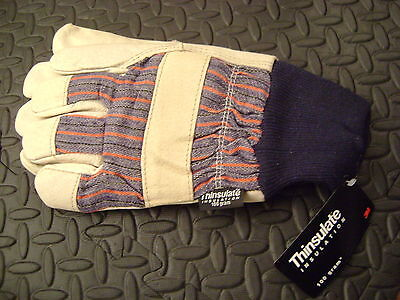 Insulated Leather Palm West Chester Work Gloves Large Size
