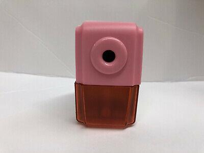 Cute Pencil Sharpener Kids - Portable - Manual Crank Pinkwhite
