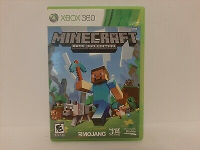 Minecraft Microsoft Xbox 360 Edition Video Game Tested Working Free Shipping