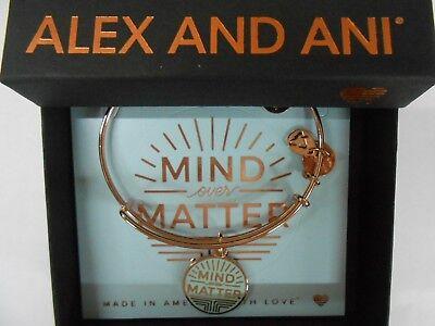 Alex And Ani  Mind Over Matter Bangle Bracelet New Tag Box Card