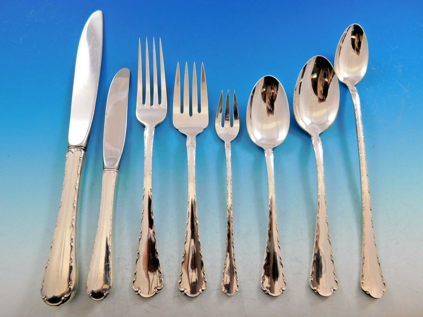 Sterling Silver Flatware Towle Petit Point Salad Fork