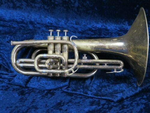 Olds F Mellophone Ser#933311 Good Player with French Horn Mouthpiece Adapter