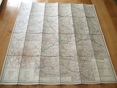 alte Landkarte General Karte von Steiermark Österreich Graz um 1922 auf Leinen