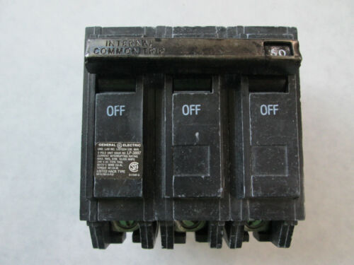 NOS General Electric THQL32050 Circuit Breaker (50A, 240V, 3 Pole) THQL3150