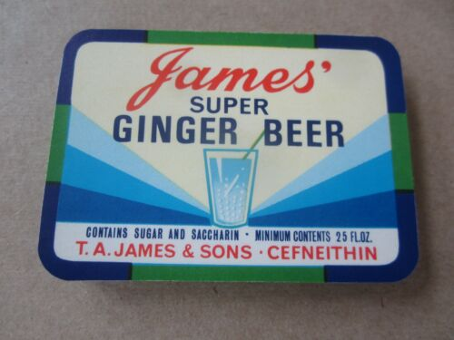 Wholesale Lot of 100 Old Vintage - JAMES Ginger Beer / SODA LABELS - England
