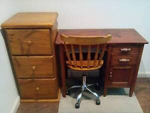 Small Solid timber desk with chair Gilmore Tuggeranong Preview
