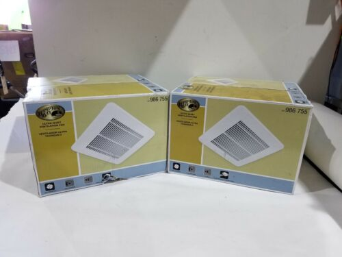 Hampton Bay 50 CFM 0.5 Sone Ceiling Bath Fan (lot of 2) TY-50-A(HD)
