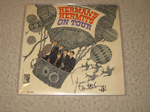 HERMANS HERMITS ON TOUR SIGNED ALBUM