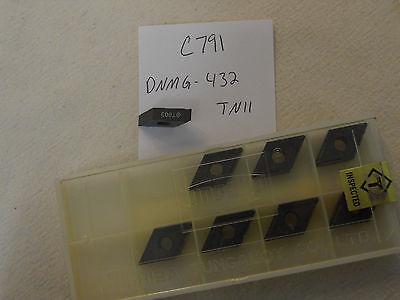 8 New Tungaloy Dnmg 432 Tn11 Carbide Inserts. Dnmg 150408-11 Grade T803 C791