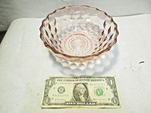 """vintage Jeannette Pink Depression Cube Cubist Glass 6.5"""" Serving Bowl good shape"""