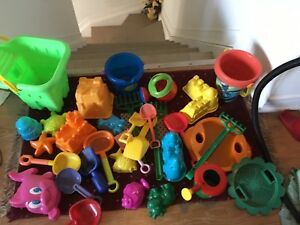 A big lot of beach toys. AVAILABLE