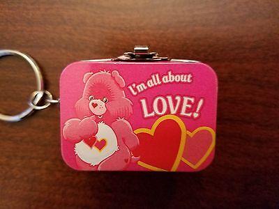 Care Bears Mini Lunchbox Replica Keychain Cheer Bear Rainbow Symbol Key Chain - Cheer Bear Symbol