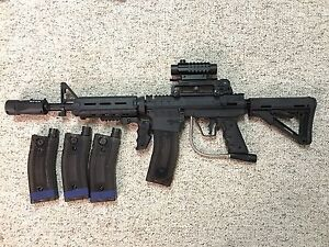 BT-4 with Tacamo mag fed kit paintball marker