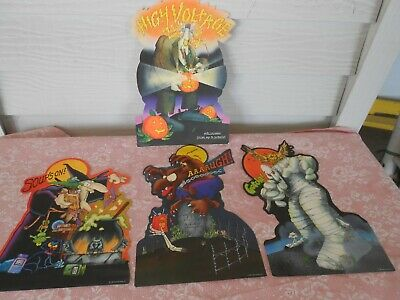 VTG 1981 Hallmark Halloween Die Cut Decorations Lot of 4 Witch Monsters