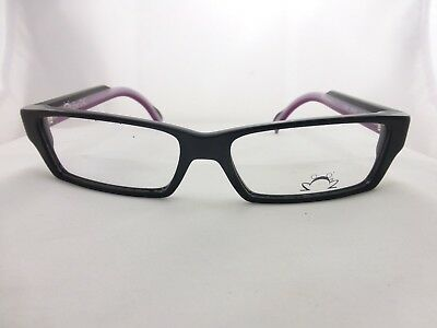 EYE DC eyeglasses Great Style, Black & Purple frame, Mod. V327 Made in France