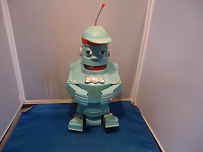 """Eldon 1961 Yakkity yob plastic 12"""" robot space toy scarce vtg"""