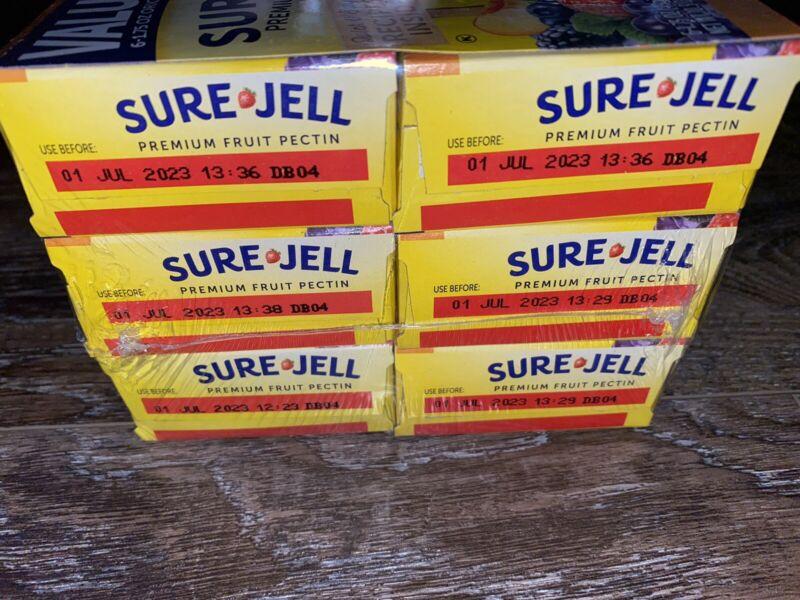 Sure Jell Premium Fruit Pectin 1.75 Oz Boxes Jams Jellies Dry 7/01/23 ~ 6-Boxes
