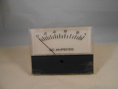 53699 Meter Dc Amperes 0-1 New Old Stock 3 Wide X2 12