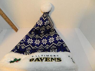 BALTIMORE RAVENS ugly Sweater SANTA HAT Knit Christmas NFL Tailgate Party (Knit Santa Hat)
