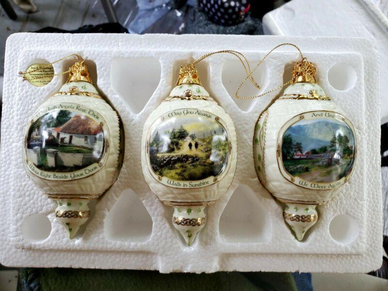 Bradford edition irish blessings heirloom porcelain christmas ornaments