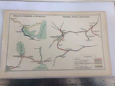 CHALLOCH PORTPATRICK BUSBY THE MOUND SKELBO NETHERTON BARRHEAD RAILWAY MAP 1907