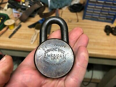 Set Of 4 American Lock Company Padlock W Original Keys