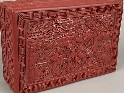 A 19th c. Chinese Cinnabar Lacquer Box.