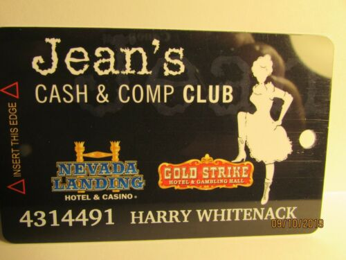 Jean Cash & Comp Card- Gold Strike, Nevada Landing Casino