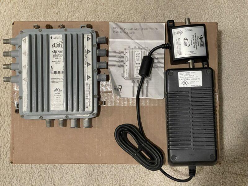 DISH NETWORK DPP-44 DPP44 MULTI-DISH SATELLITE SWITCH PRO PLUS w/ POWER INSERTER