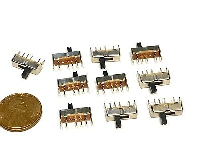 10 Pieces Sk13d07vg4 4pin Mini Micro Small Tiny Slide Switch Pcb On Off 1p3t B5