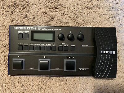 Boss GT-1 Guitar Effects Processor GT1 Pedal with bag