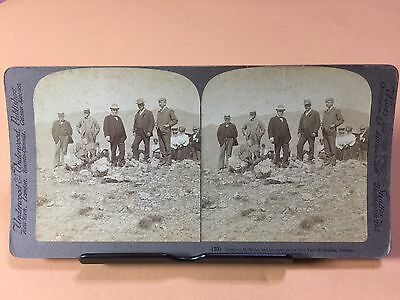 Rare Stereoviews of President McKinley Visiting Congress Arizona Gold Mine 1901