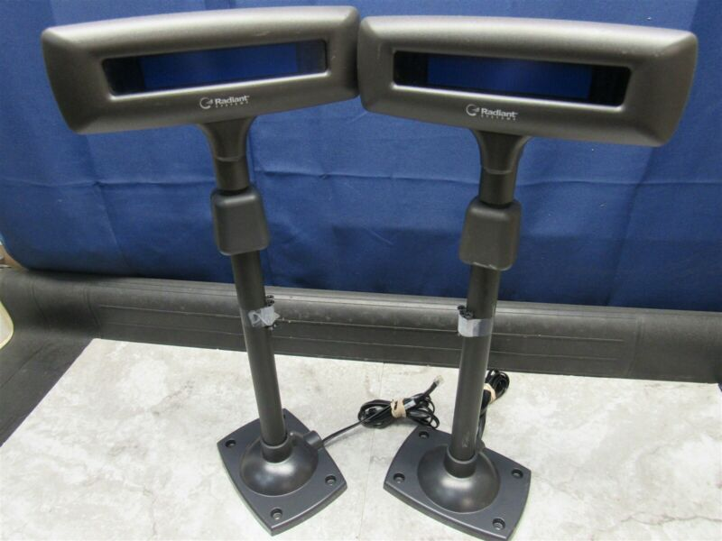 2 LOT - Radiant Systems P703 POS Customer Pole Display 5937-0000-9001