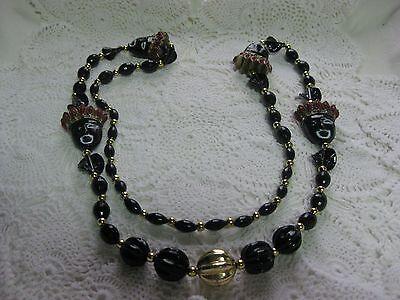 Krew of Zulu Carnival  Necklace from New Orleans Mardi Gras Parade--King Zulu