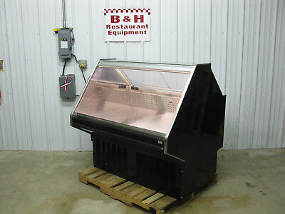 Barker 50 Glass Front Refrigerated Display Bakery Meat Cheese Deli Case 4 2