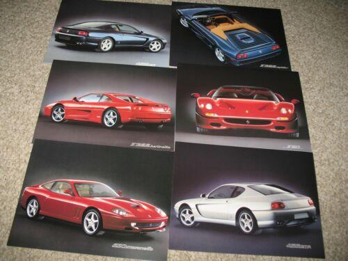 Ferrari lot of 6 brochures F50 550M 456GT F355 English