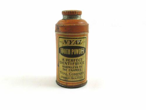Nyal Tooth Powder Tin Detroit Michigan c1910