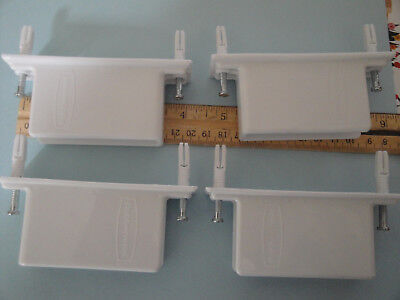 Qty. 4 Rubbermaid FreeSlide Wall End Shelving Rack Bracket #3D68 Coset Organizer, used for sale  Shipping to India
