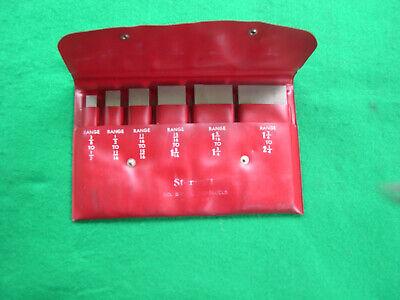 Starrett 154lz 6 Piece Adjustable Parallels In Original Case