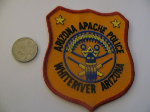 APACHE  WHITERIVER ARIZONA TRIBAL POLICE PATCH EMBROIDERED NOS NEW FREE SHIPPING