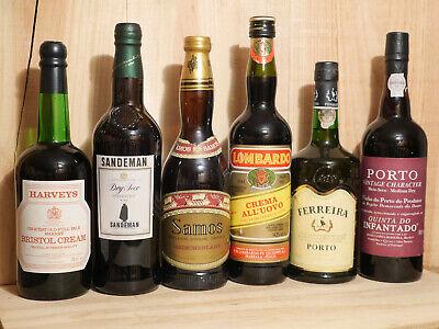 6 Fl. mixed Südweine - Sherry, Portwein, Samos, Marsala - Ferreira, Sandeman ...