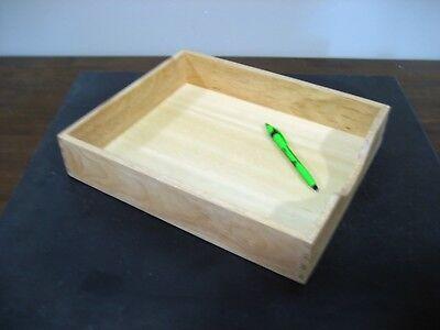 Used Wood Inout Desktop Tray Letter Size Wwarranty -see Choice Of Woods Below