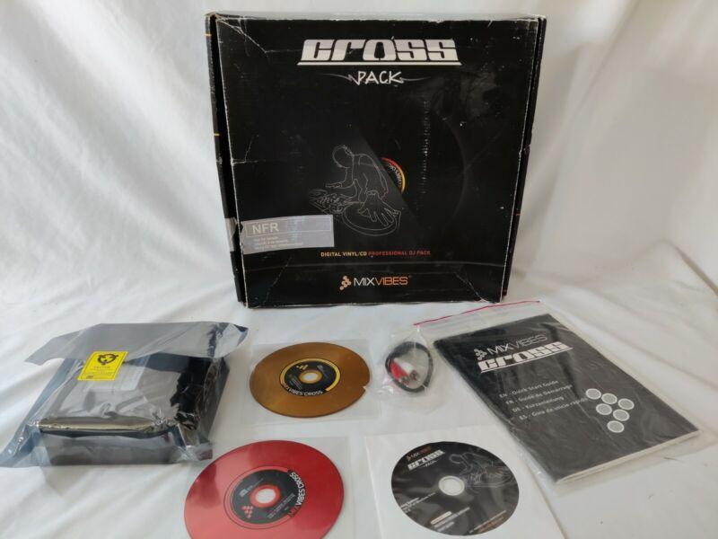 Mixvibes CROSS Pack - DJ Performance Bundle - Control Vinyl CDs Audio Interface