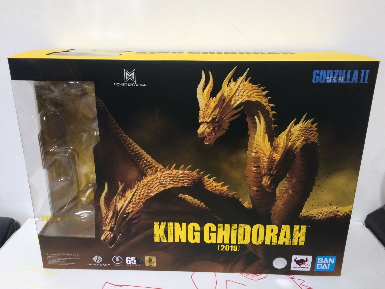 IN STOCK!! S.H Monsterarts 2019 King Ghidorah Godzilla KING OF THE MONSTERS KOTM