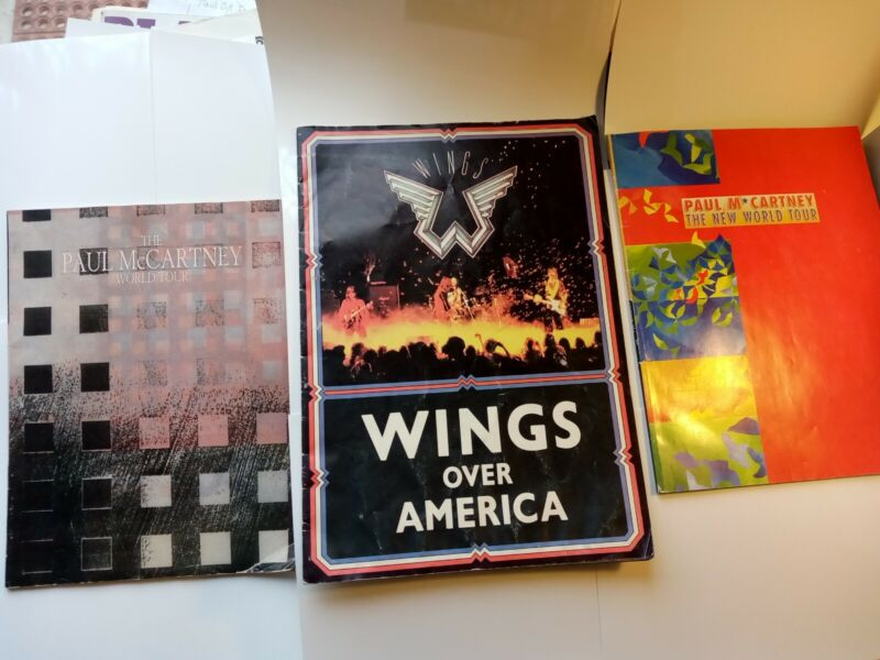 Paul McCartney Book Wings Over America Tour 1975, 1989/90, 1992 World Tours (3)